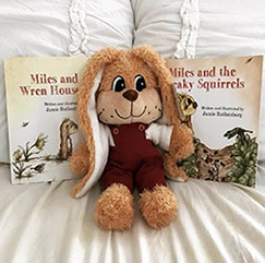 Bundle deal! Buy plush Miles and both books in the series. <br>Only $40