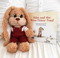 Bundle deal! Buy plush Miles and Miles and the Wren House Toad. <br>$30
